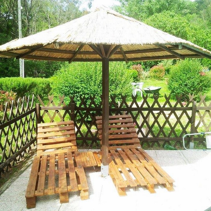 Upcycled wood pallet furniture ideas pallet furniture for Wood pallet gazebo