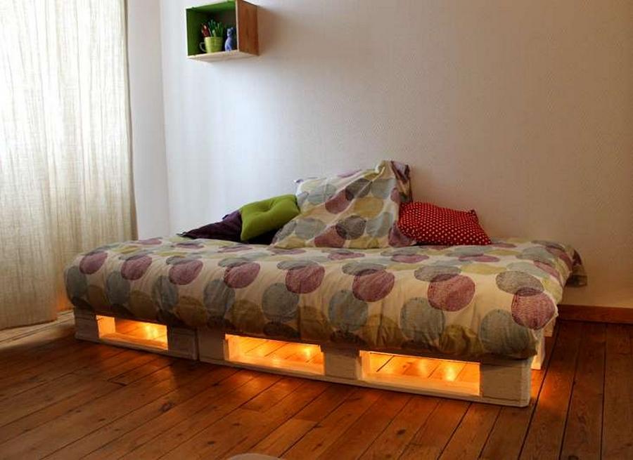 pallet wood bed for kids