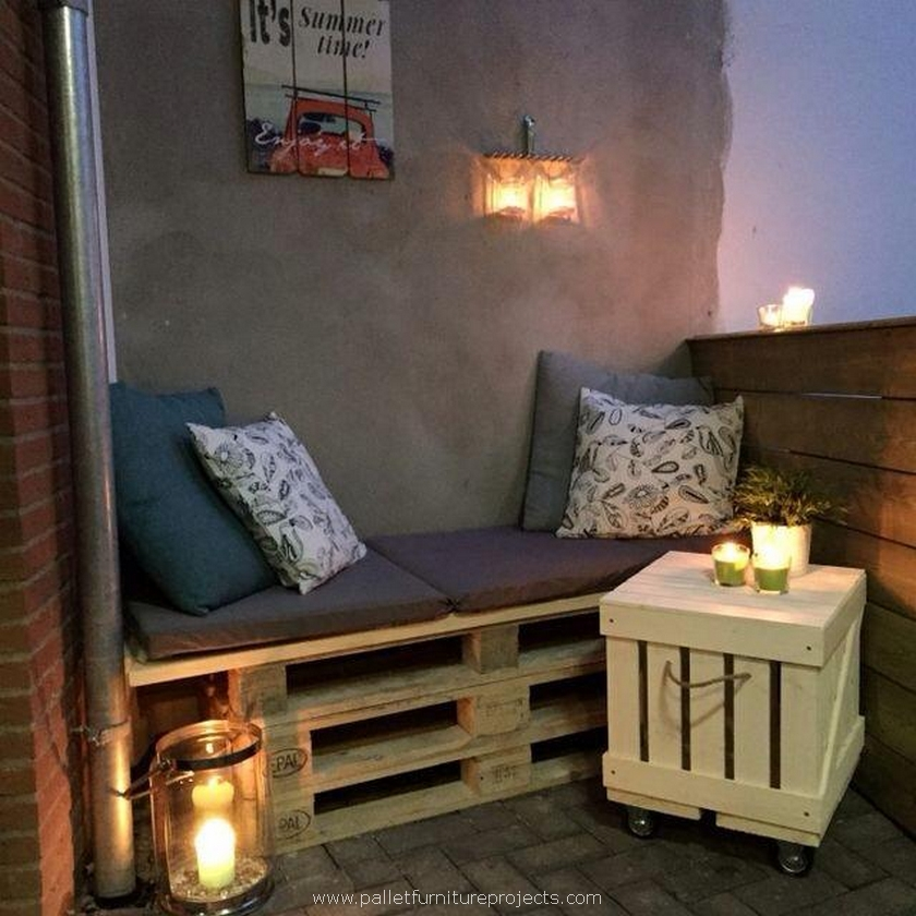 patio decor with pallets