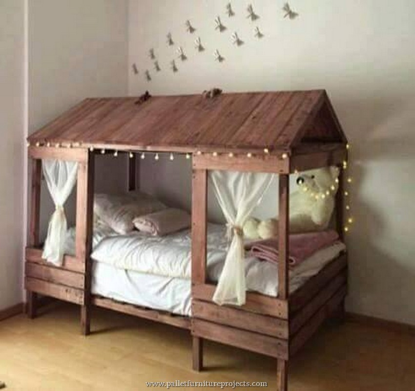wood pallet bunk bed