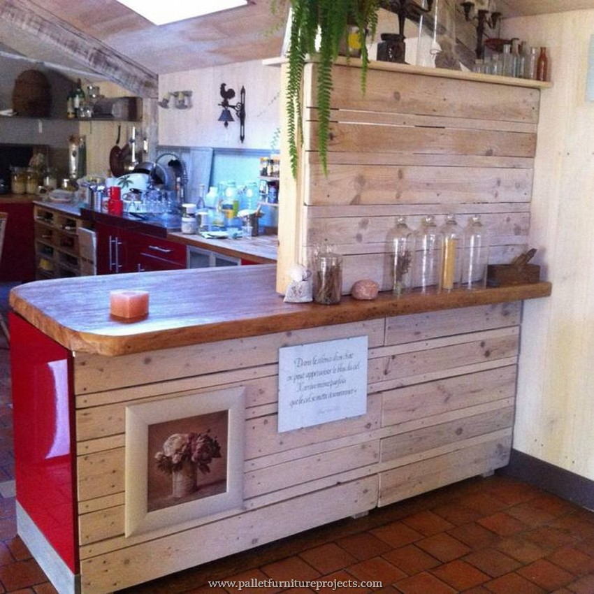 Kitchen Set Pallet: Furniture Made With Recycled Wooden Pallets