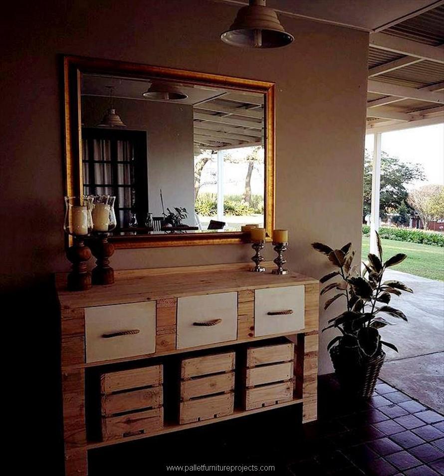 wood pallet vanity cabinet