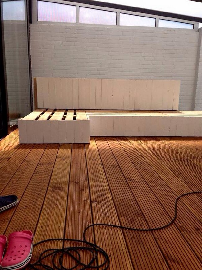 wooden pallet diy sofa