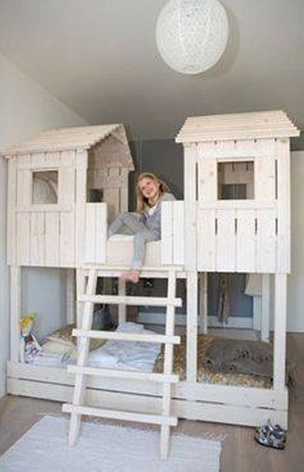 Kids Bed Houses Out Of Pallets Wood Pallet Furniture