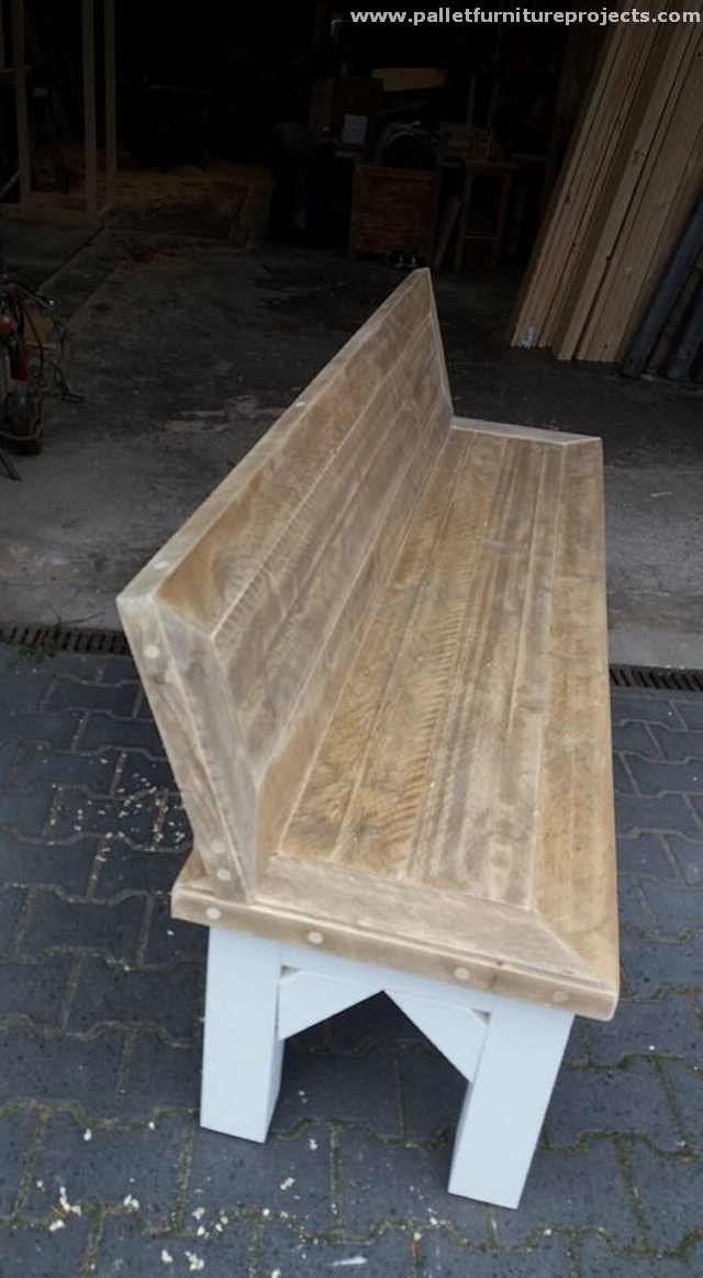 Long Size Reclaimed Pallet Benches Pallet Furniture Projects