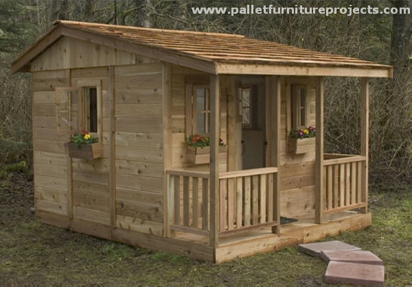 Pallet Garden Shed Huts Pallet Furniture Projects