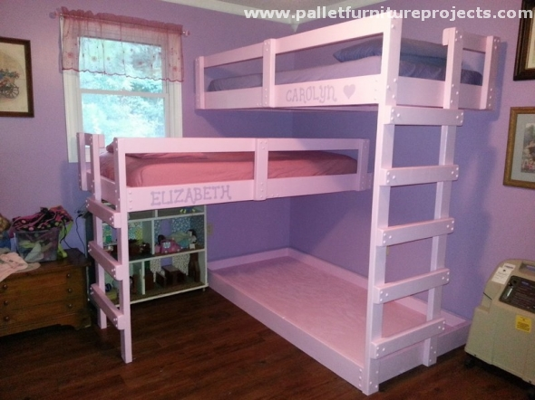Pallet Bunk Bed Projects Pallet Furniture Projects