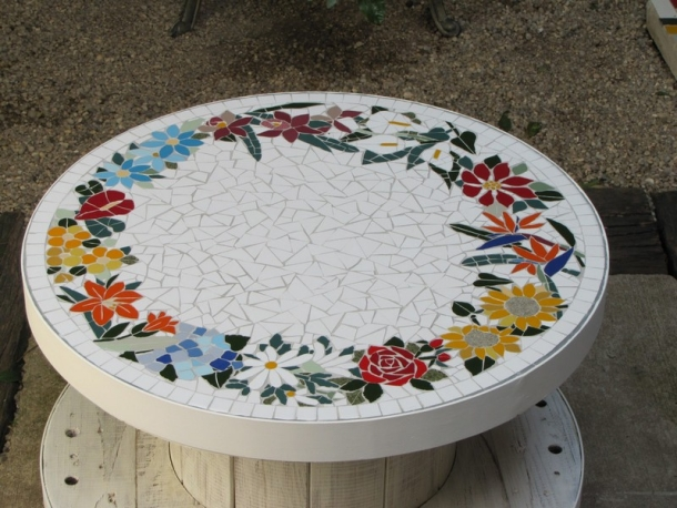 Pallet Mosaic Table Ideas Furniture Projects