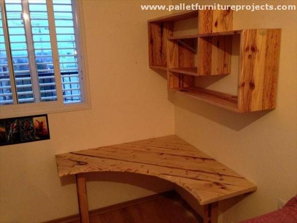 Pallet Corner Shelf Ideas Pallet Furniture Projects