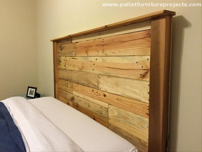 Recycled Pallet Bed Headboards Pallet Furniture Projects