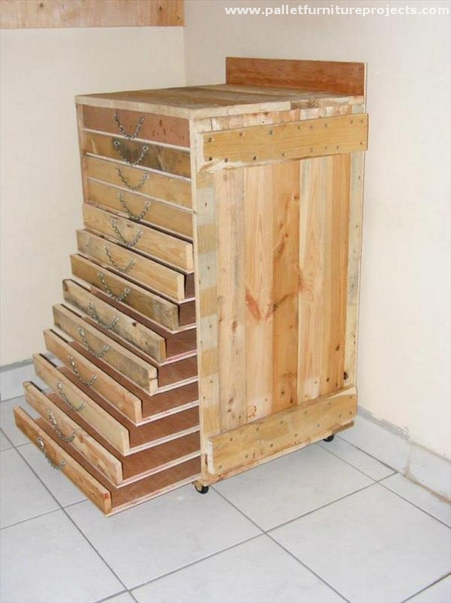 Pallet Storage Cabinet Ideas Pallet Furniture Projects