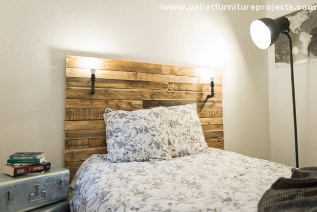 Recycled Pallet Bed Headboards | Pallet Furniture Projects.