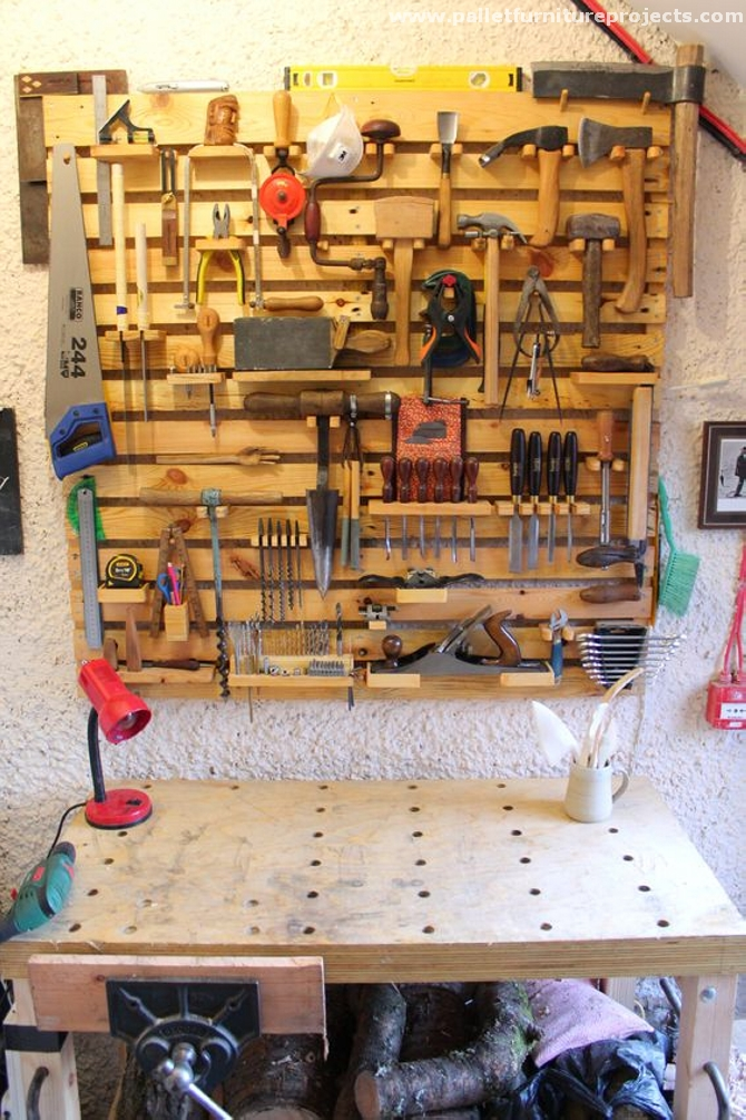 pallet tools rack ideas