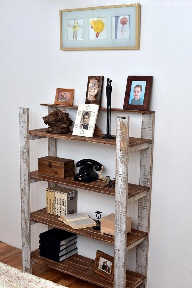 Vintage Wooden Pallet Shelf – Pallet Furniture Projects ...