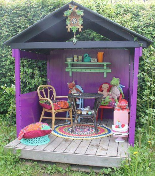 Cute Pallet Outdoor Furniture Ideas