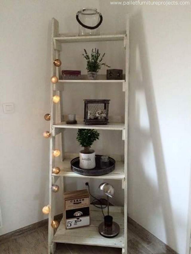 pallet shelf and decor