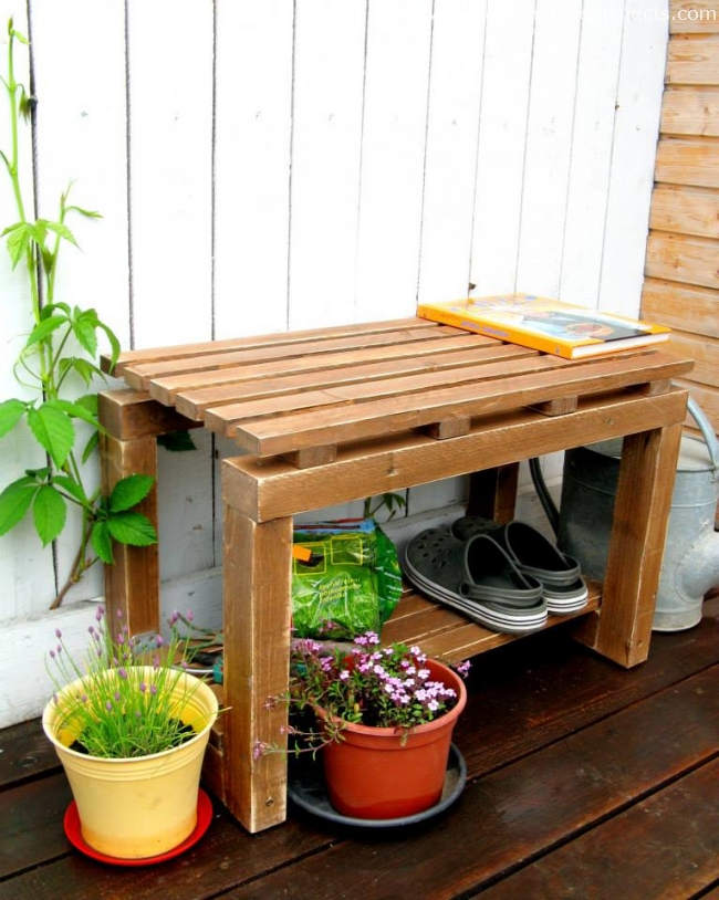 Sensational Garden Benches Made With Pallet Wood Pallet Furniture Projects Machost Co Dining Chair Design Ideas Machostcouk
