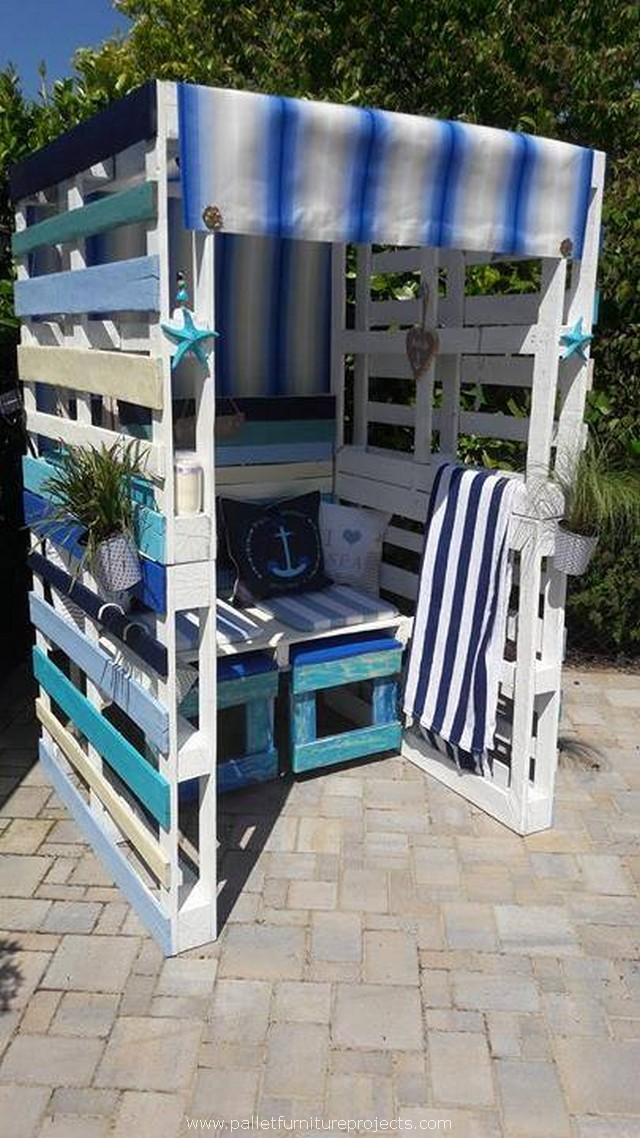 Patio Pallets Strandkorb Chair Pallet Furniture Projects