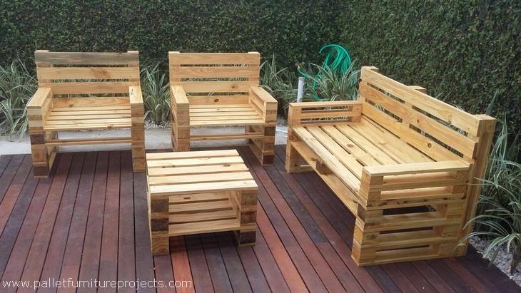 Pallet Wood Garden Lounge Furniture Pallet Furniture Projects