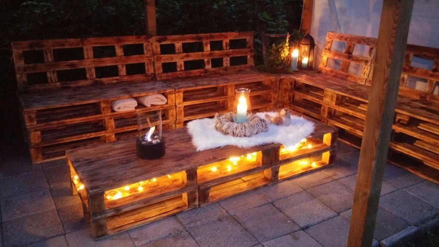 Diy Wood Pallet Patio Furniture Set Pallet Furniture